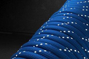 Светоотражающий 550 паракорд - синий