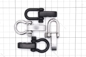 Карабин-шакл U PLUS черный (круглый винт) от Магазин паракорда и фурнитуры Survival Market