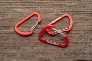 Карабин NH 4 см - красный от Магазин паракорда и фурнитуры Survival Market