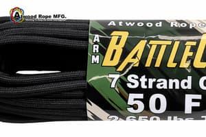 5.6 mm Battle Cord Atwood (USA) - Black от Магазин паракорда и фурнитуры Survival Market