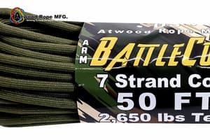 5.6 mm Battle Cord Atwood (USA) - Olive от Магазин паракорда и фурнитуры Survival Market