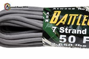 5.6 mm Battle Cord Atwood (USA) - Platinum от Магазин паракорда и фурнитуры Survival Market