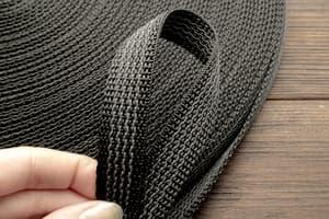 Стропа ременная 20 мм * 2,5 мм (черный с резинкой) от Магазин паракорда и фурнитуры Survival Market