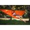 Гамак туристический повышенной прочности с карманом (Россия) ярко-оранжевый от Магазин паракорда и фурнитуры Survival Market