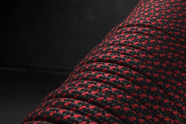 550 паракорд - красно-черный пестрый (М2) от Survival Market