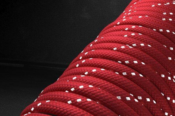 Светоотражающий 550 паракорд - красный от Survival Market
