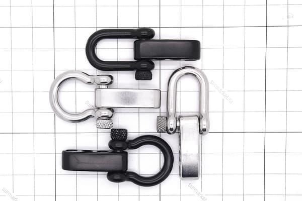 Карабин-шакл OMEGA PLUS черный (круглый винт) от Магазин паракорда и фурнитуры Survival Market