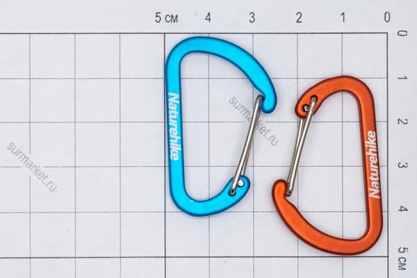 Карабин NH 4 см - оранжевый от Магазин паракорда и фурнитуры Survival Market