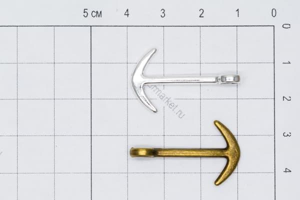 Якорь (2) серебро от Магазин паракорда и фурнитуры Survival Market