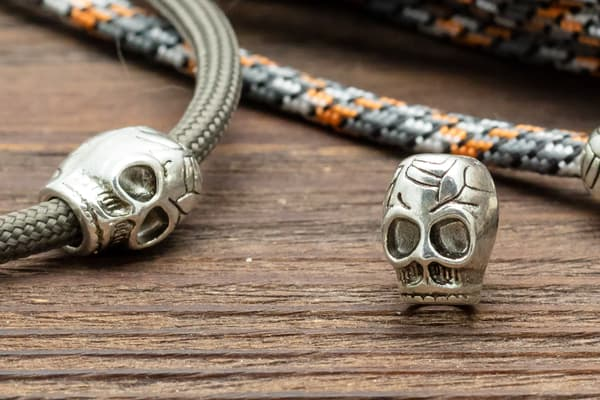 Череп (12) серебро (К3) от Магазин паракорда и фурнитуры Survival Market