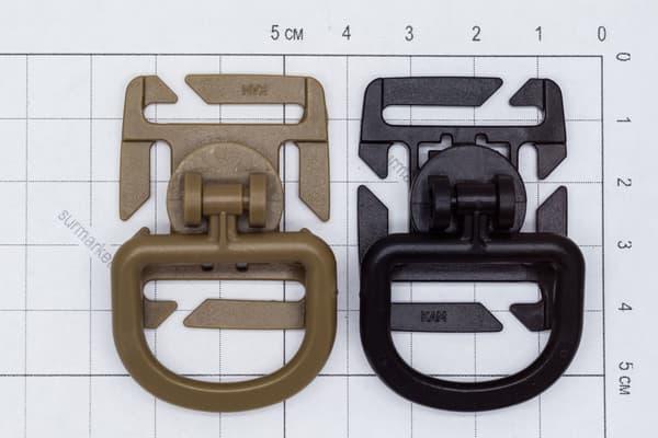 D-образное крепление Molle черный от Магазин паракорда и фурнитуры Survival Market