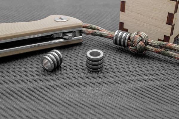 Стальная бусина с резиновыми кольцами от Магазин паракорда и фурнитуры Survival Market