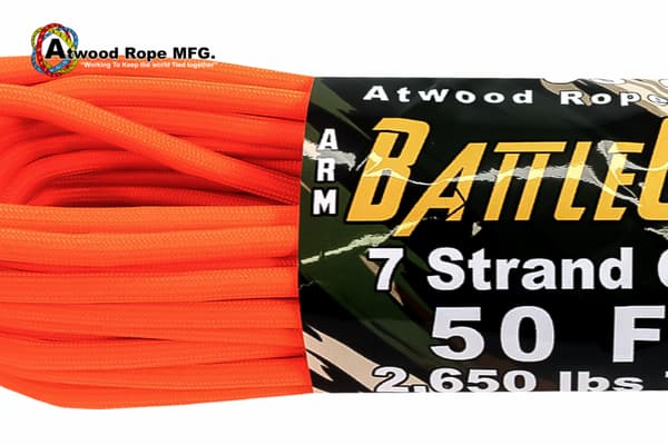 5.6 mm Battle Cord Atwood (USA) - Neon Orange от Магазин паракорда и фурнитуры Survival Market