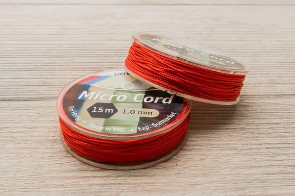 Микрокорд (1 мм, 15 метров) красный от Магазин паракорда и фурнитуры Survival Market