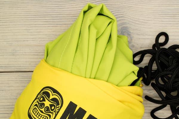 Гамак туристический повышенной прочности с карманом (Россия) ярко-зеленый от Магазин паракорда и фурнитуры Survival Market