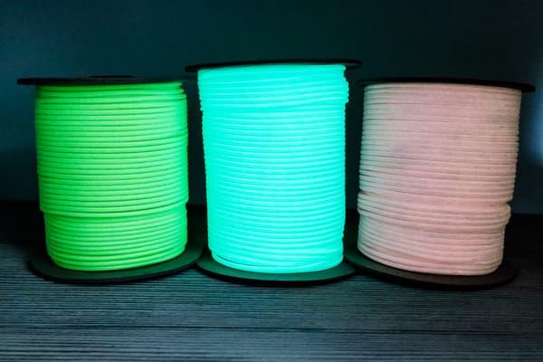 Minicord светящийся в темноте EdcX (2.8mm) Blue (Украина) от Магазин паракорда и фурнитуры Survival Market
