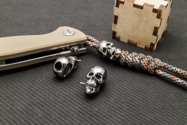"""Стальной череп """"С сигарой"""" от Магазин паракорда и фурнитуры Survival Market"""