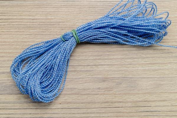 Микрокорд полипропилен (1,2 мм, 15 метров) бело-синий от Магазин паракорда и фурнитуры Survival Market